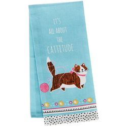 Kay Dee Designs Crazy Cat Cattitude Tea Towel