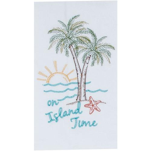 Kay Dee Designs Palm Tree On Island Time Flour Sack Towel