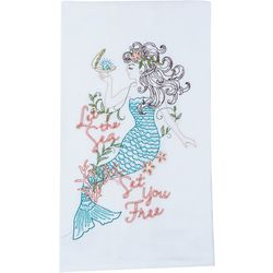 Kay Dee Designs Embroidered Mermaid Flour Sack Towel