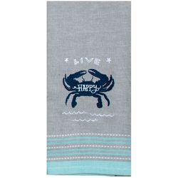 Kay Dee Designs Embroidered Crab Tea Towel