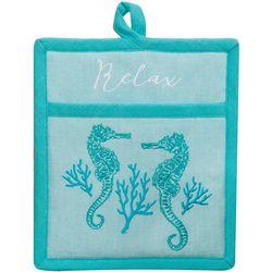 Kay Dee Designs Beach Comber Seahorse Pocket Mitt