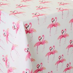 Colordrift Flamingo Fancy Indoor-Outdoor Tablecloth