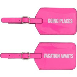 Famous Brand 2-pc. Hot Pink Luggage Tag Set