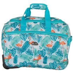 American Flyer 18'' Turquoise Flamingo Wheeled Duffel Bag