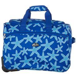 American Flyer 18'' Blue Starfish Wheeled Duffel Bag