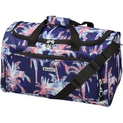 Leisure Luggage 20'' Lafayette Navy Palm Tree Duffel Bag