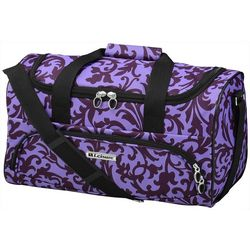 Leisure Luggage 20'' Lafayette Purple Trellis Duffel Bag