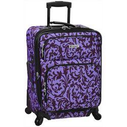 Leisure Luggage 21'' Lafayette Purple Trellis Luggage