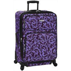 Leisure Luggage 25'' Lafayette Purple Trellis Luggage