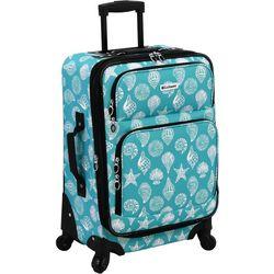 Leisure Luggage 21'' Lafayette Azure Shells Spinner Luggage