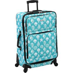 Leisure Luggage 25'' Lafayette Azure Shells Spinner Luggage