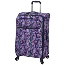 London Fog 25'' Mayfair Pink & Navy Paisley Spinner Luggage