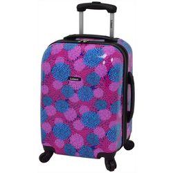 Leisure Luggage 20'' Magenta Pom Pom Hardside Luggage
