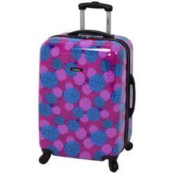 Leisure Luggage 24'' Magenta Pom Pom Hardside Luggage