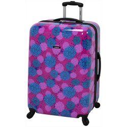 Leisure Luggage 28'' Magenta Pom Pom Hardside Luggage