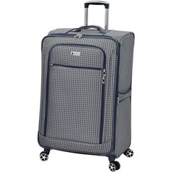 London Fog 28'' Sheffield Plaid Expandable Spinner Luggage