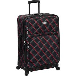 Leisure Luggage 25'' Lafayette Red Diamond Spinner Luggage