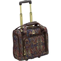 London Fog 15'' Mayfair Brown Paisley Under Seat Bag