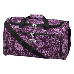 Leisure Luggage 20'' Lafayette Purple Paisley Duffel Bag