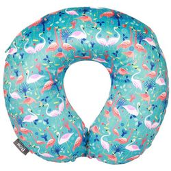 Sutton Blue Flamingo Travel Pillow