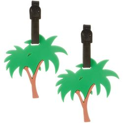 Miami Carry On 2-pc. Palm Tree Luggage Tag Set
