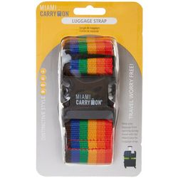 Miami Carry On Rainbow Luggage Strap
