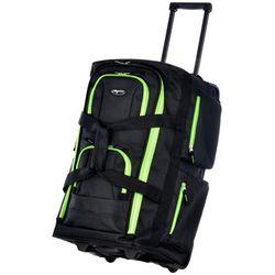 Olympia Luggage 22'' Two-Tone 8-Pocket Rolling Duffel Bag