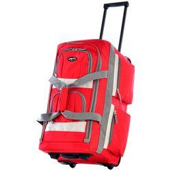 Olympia Luggage 22'' 8-Pocket Rolling Duffel Bag