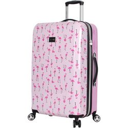 Betsey Johnson 26'' Flamingo Strut Spinner Luggage