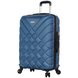 Nicole Miller New York 24'' Basket Weave Spinner Luggage