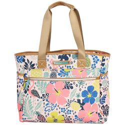 Lily Bloom 16'' Tropical Pineapple Tote Bag