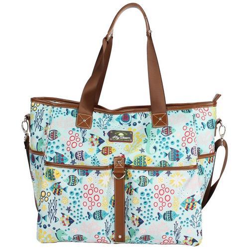 47080ced22 Lily Bloom Aquarium Life Tote Bag