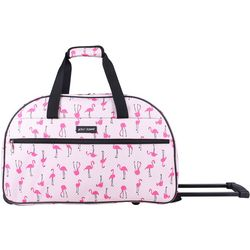 Betsey Johnson Flamingo Strut Wheeled Duffel Bag