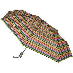 Totes Striped Neverwet Auto-Open Umbrella