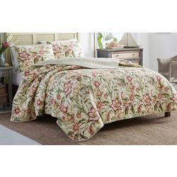 Tommy Bahama Tropical Lily Quilt Set