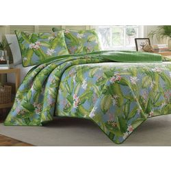 Tommy Bahama Aregada Dock Blue Quilt Set