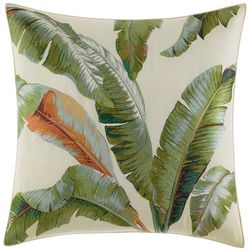 Tommy Bahama Palmiers Embroidered Palm Decorative Pillow