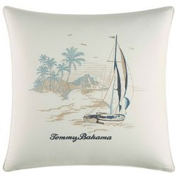 Tommy Bahama La Prisma Stripe Scenic Decorative Pillow