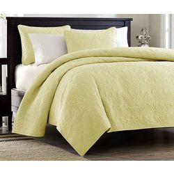 Madison Park Quebec 3-pc. Yellow Coverlet Set