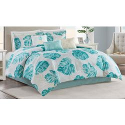 Madison Park 7-pc. Royale Palm Aqua Comforter Set