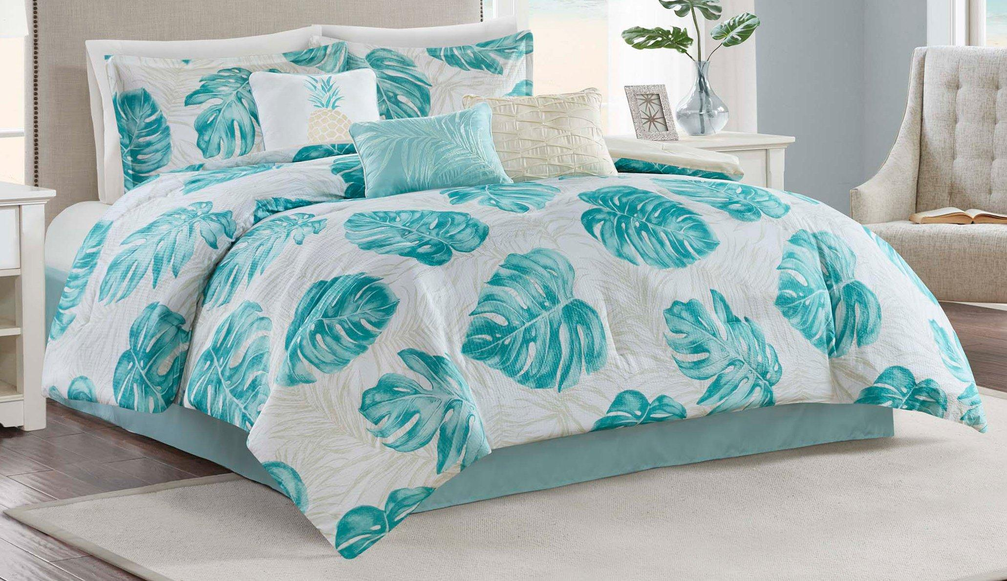 3 Piece Bed In A Bag Turquoise Blue Aqua Girls Twin Single Comforter Set New~