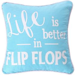 Saltwater Home Vero Life In Flip Flops Decorative Pillow