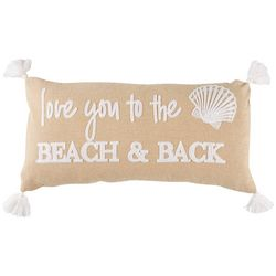 Saltwater Home Tropical Breeze Love You To The Beach Pillow