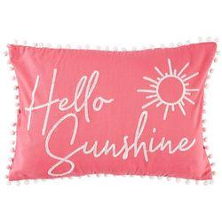 Saltwater Home Tropical Breeze Hello Sunshine Pillow