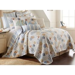 Saltwater Home Coral Sea Life Quilt Set