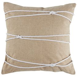 Saltwater Home Morro Bay Rope Loops Decorative Pillow