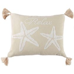 Saltwater Home Shoal Haven Starfish Decorative Pillow