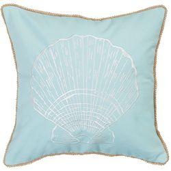 Coastal Caledonia Embroidered Sea Shell Pillow