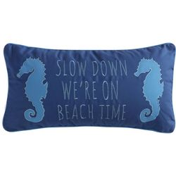 Coastal Sea Breeze Beach Time Decorative Pillow