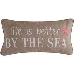 Coastal Atlantis Life Is Better By The Sea Decorative Pillow